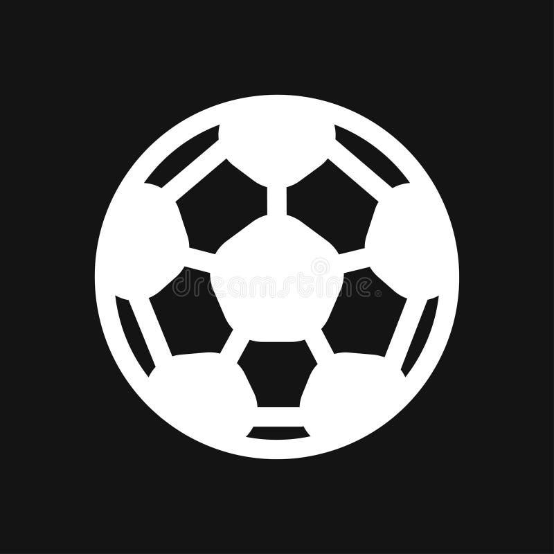 Icona della palla di sport Illustrazione piana di vettore isolata su fondo illustrazione vettoriale