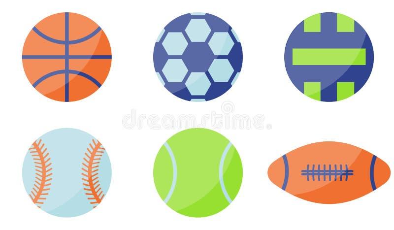 Icona della palla di sport Stile piano royalty illustrazione gratis