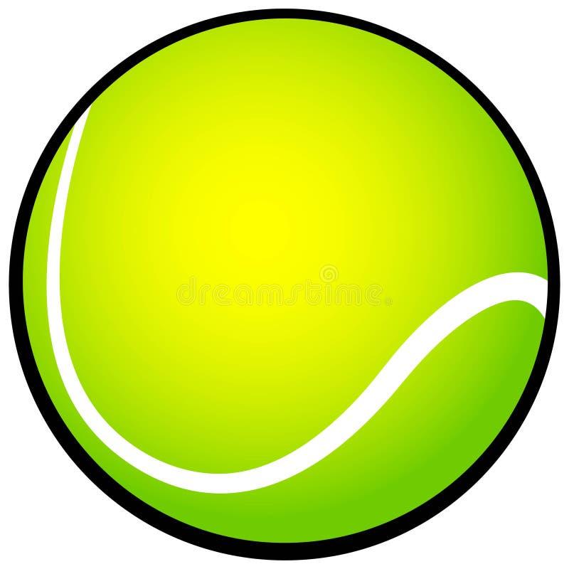Icona della pallina da tennis illustrazione di stock