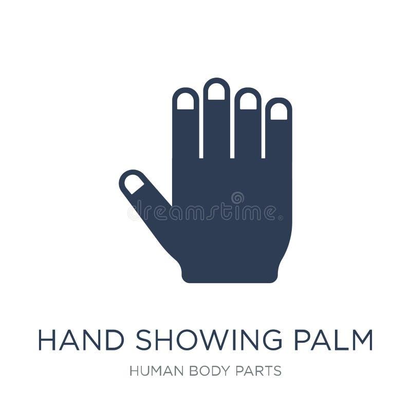 Icona della palma di rappresentazione della mano Ico piano d'avanguardia della palma di rappresentazione della mano di vettore illustrazione vettoriale