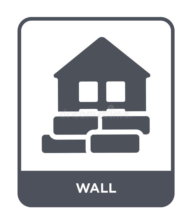 icona della parete nello stile d'avanguardia di progettazione icona della parete isolata su fondo bianco simbolo piano semplice e royalty illustrazione gratis