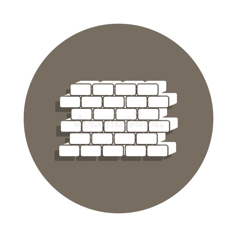 icona della parete nello stile del distintivo Uno dell'icona della raccolta dei materiali da costruzione può essere usato per UI, royalty illustrazione gratis