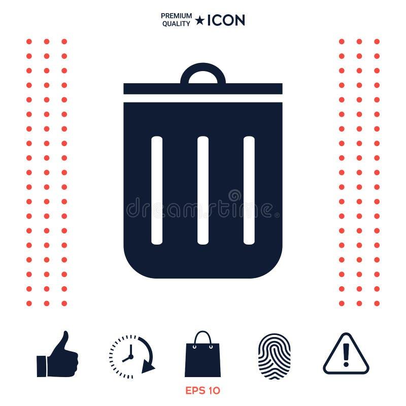 Download Icona della pattumiera illustrazione vettoriale. Illustrazione di spreco - 117977460