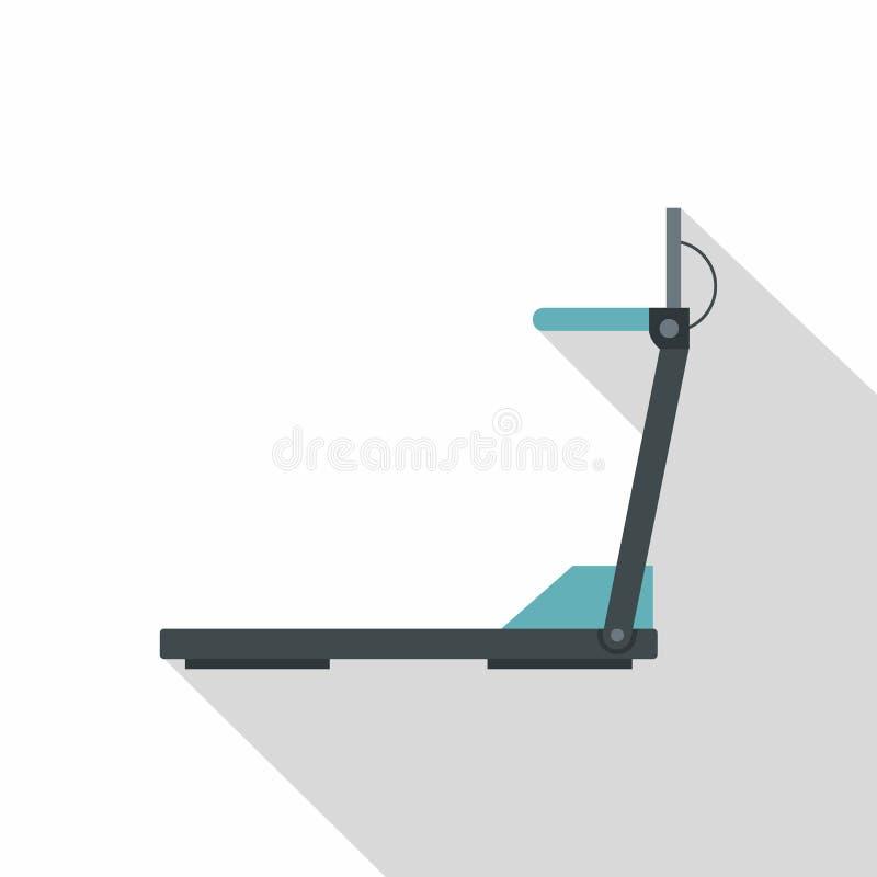 Icona della pedana mobile, stile piano illustrazione di stock