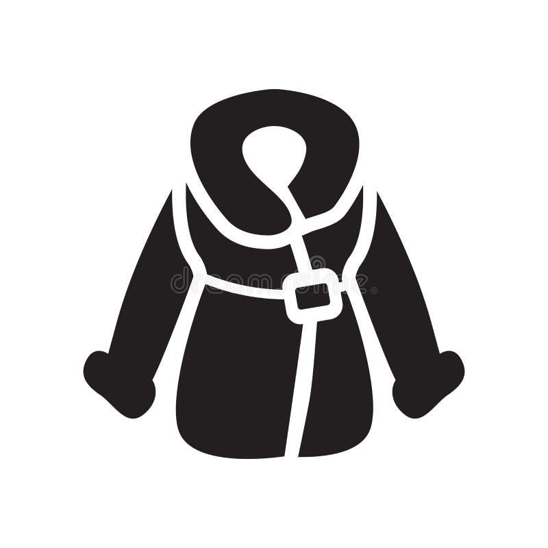 Icona della pelliccia Concetto d'avanguardia di logo della pelliccia su fondo bianco illustrazione di stock