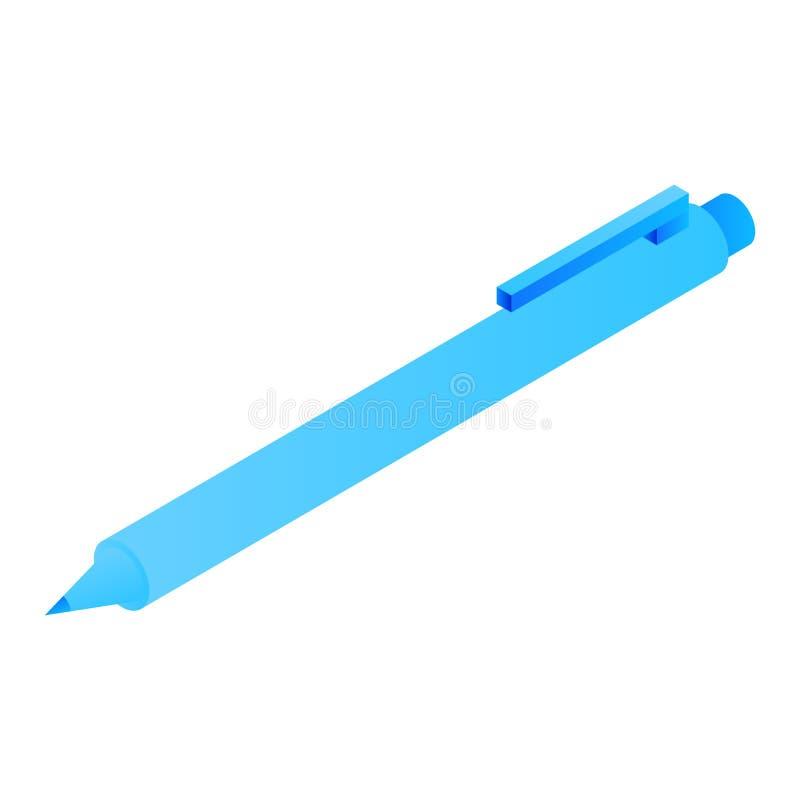 Icona della penna dell'ufficio, stile isometrico illustrazione di stock
