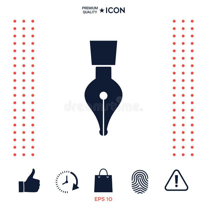 Download Icona Della Penna Di Spoletta Illustrazione Vettoriale - Illustrazione di commercio, lettera: 117976545