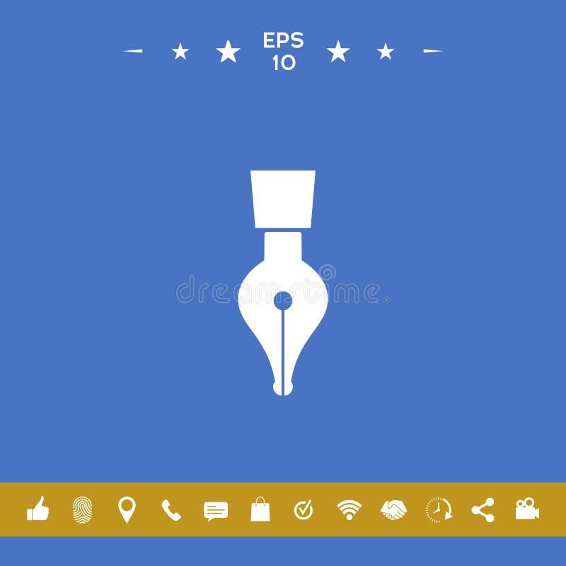 Icona della penna di spoletta illustrazione di stock