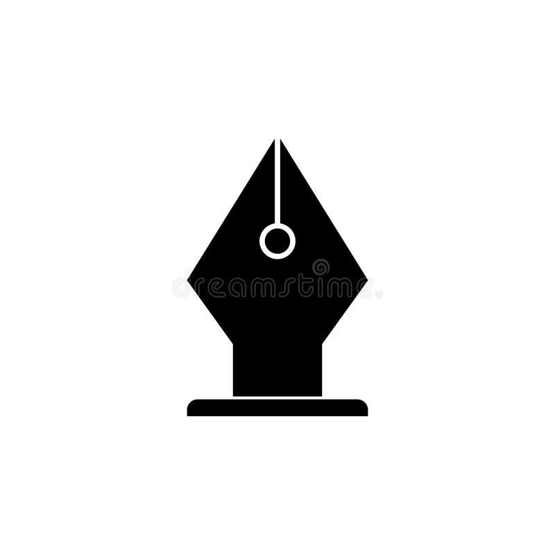 icona della penna della penna Elemento dell'icona di web per i apps mobili di web e di concetto L'icona isolata della penna della illustrazione di stock