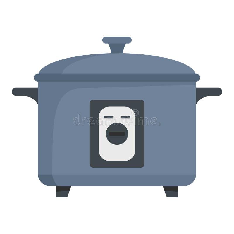 Icona della pentola a pressione, stile piano illustrazione vettoriale