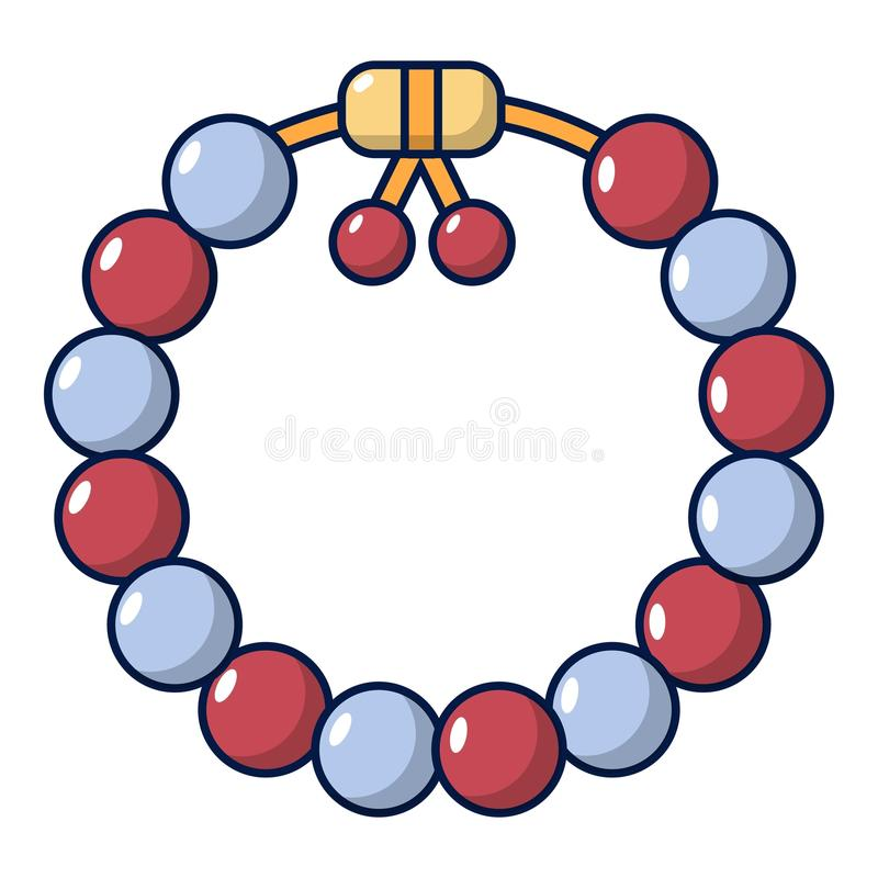 Icona della perla, stile del fumetto illustrazione di stock