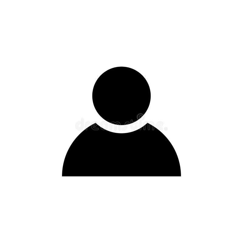 Icona della persona nello stile piano Simbolo dell'uomo illustrazione di stock