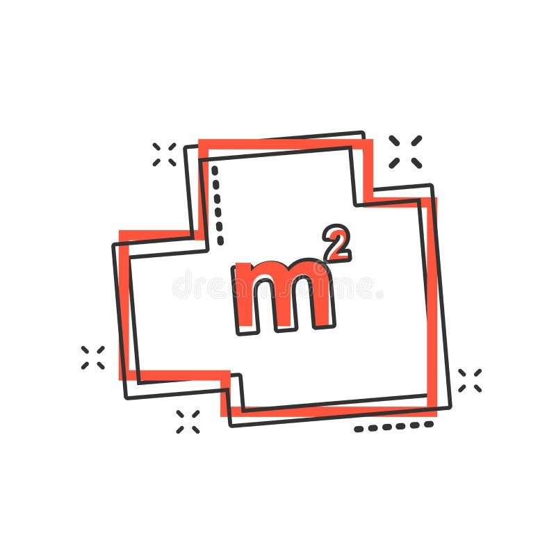 Icona della pianta della casa del fumetto di vettore nello stile comico Schema dell'architetto illustrazione di stock