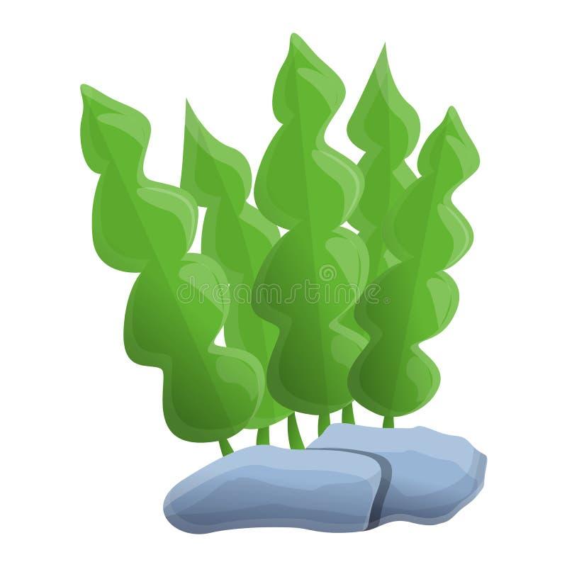 Icona della pianta della foglia dell'acquario, stile del fumetto royalty illustrazione gratis