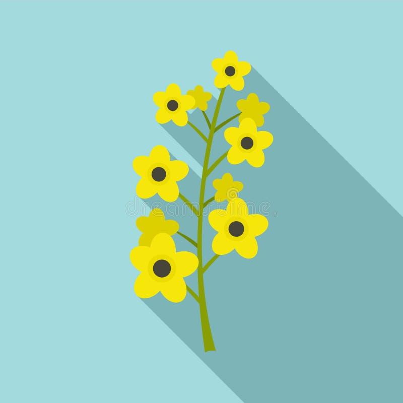 Icona della pianta della violenza, stile piano illustrazione vettoriale