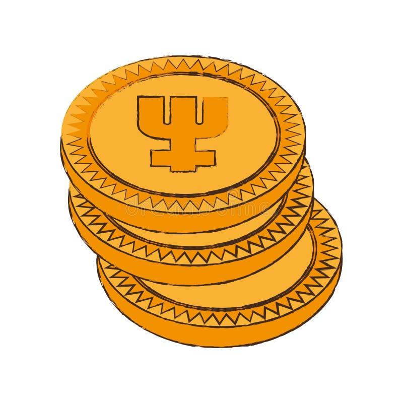icona della pila di cryptocurrency del primecoin royalty illustrazione gratis