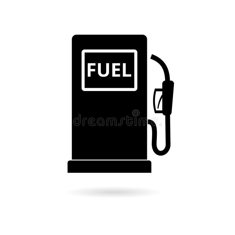 Icona della pompa di gas, simbolo del combustibile diesel e della benzina illustrazione vettoriale