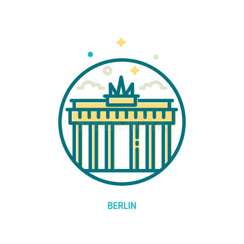 Icona della porta di Brandeburgo royalty illustrazione gratis