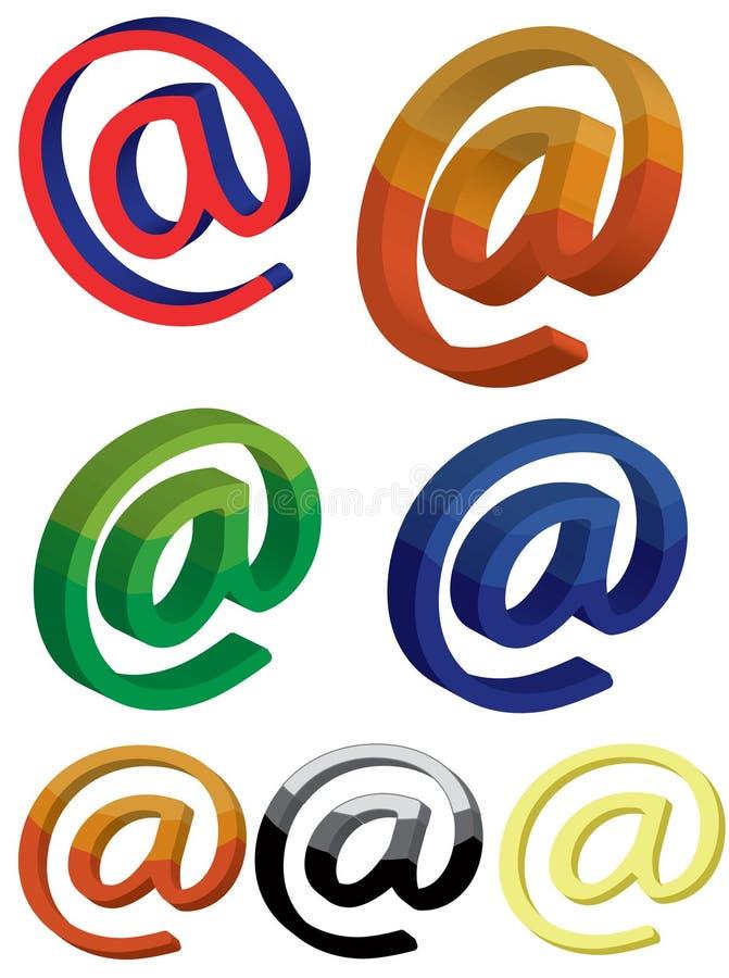 Icona della posta, 3d illustrazione vettoriale
