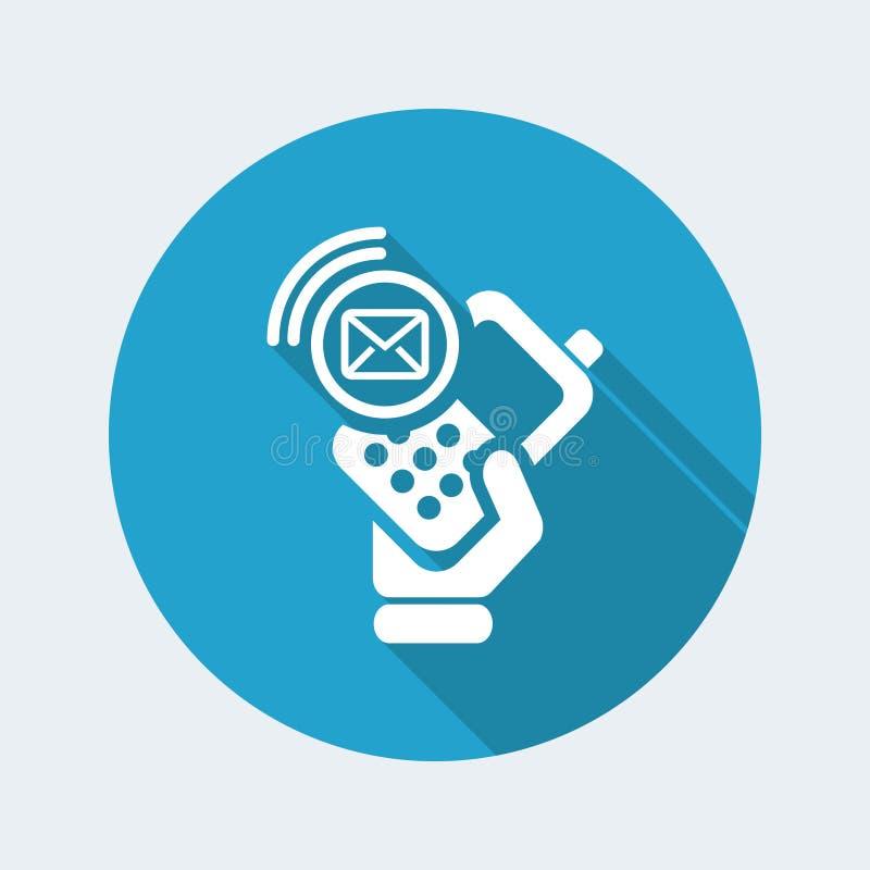 Icona della posta del telefono illustrazione di stock