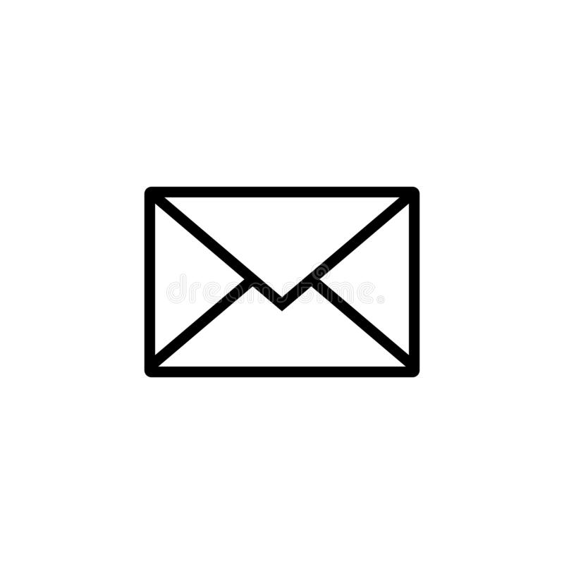 Icona della posta Segno della busta Illustrazione di vettore Priorit? bassa trasparente Icona del email illustrazione di stock