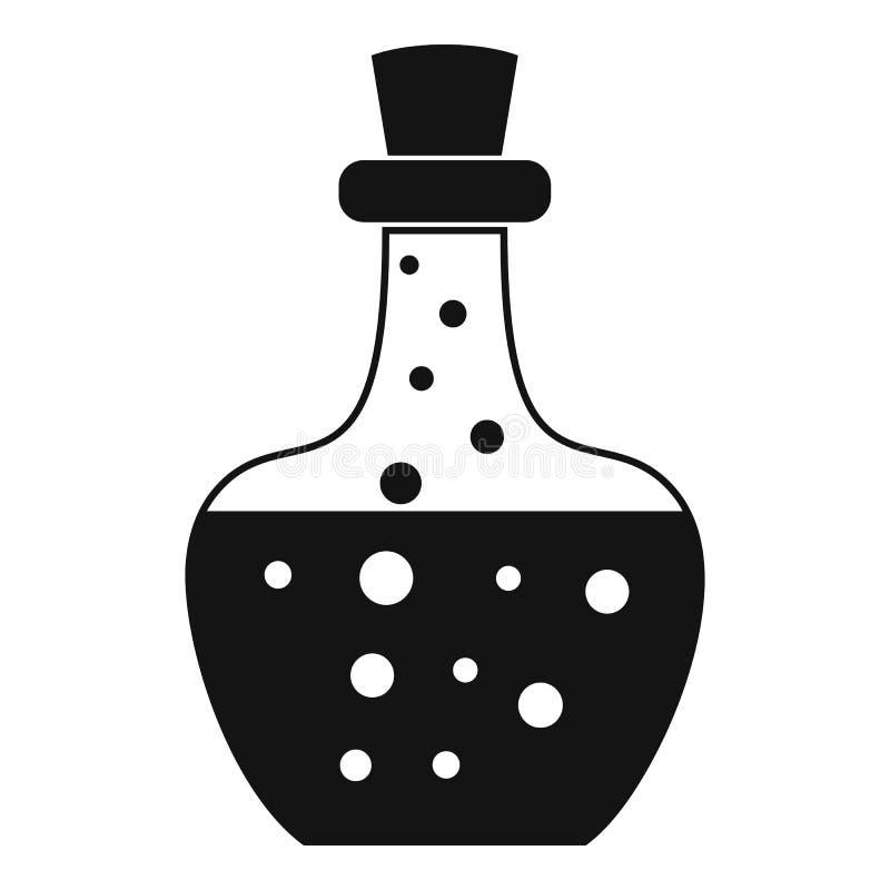 Icona della pozione della boccetta, stile semplice royalty illustrazione gratis