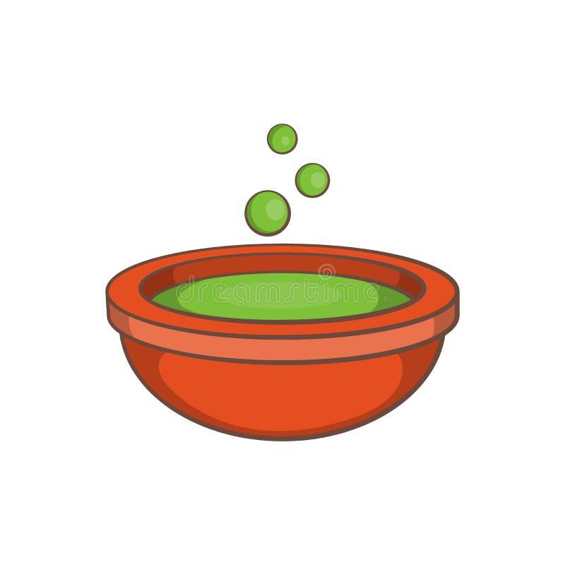 Icona della pozione di verde di Halloween, stile del fumetto illustrazione vettoriale