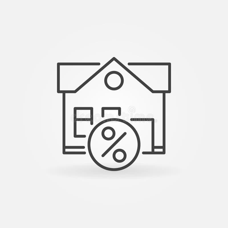 Icona della proprietà di leasing illustrazione vettoriale