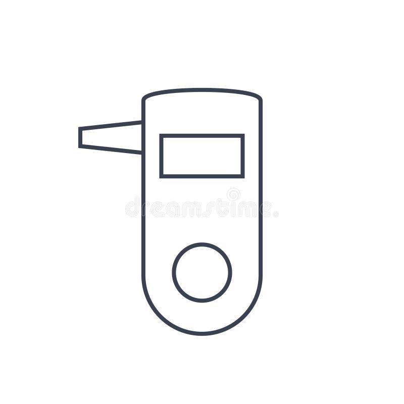 Icona della prova di respiro illustrazione vettoriale