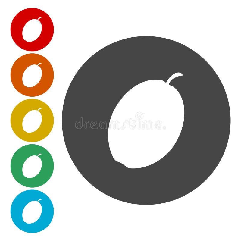Icona della prugna Illustrazione di vettore illustrazione vettoriale