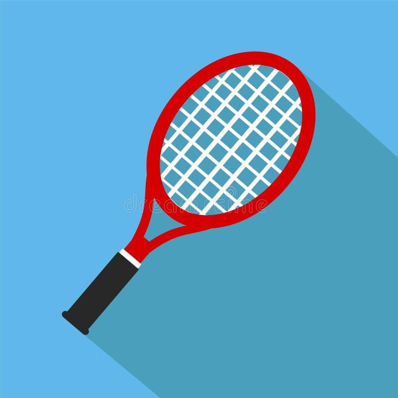 Icona della racchetta di tennis del giocattolo nella progettazione piana con effetto ombra Vec illustrazione vettoriale