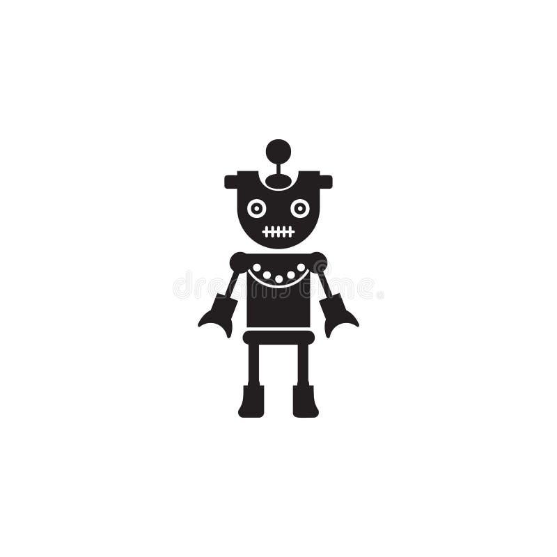 icona della ragazza del robot Elemento dei robot per i cartelloni pubblicitari, il concetto mobile e i apps di web Icona per prog royalty illustrazione gratis