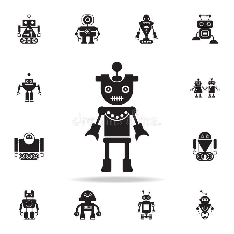 icona della ragazza del robot Insieme dettagliato delle icone del robot Progettazione grafica premio Una delle icone della raccol illustrazione di stock