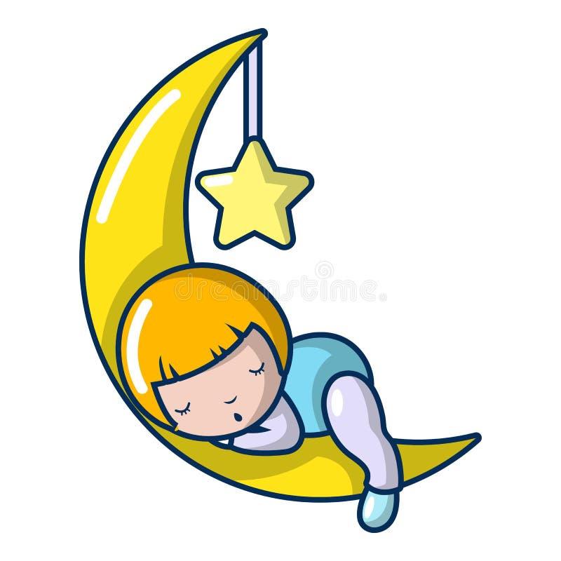 Icona della ragazza di sonno, stile del fumetto royalty illustrazione gratis