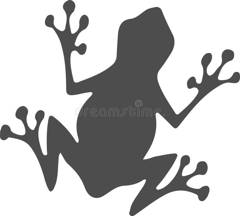 Icona della rana su fondo bianco illustrazione di stock