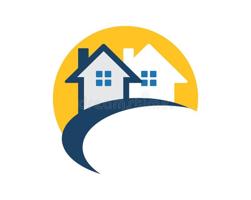 Icona della residenza del bene immobile fotografia stock
