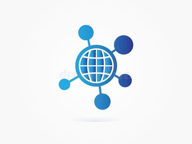 Icona della rete del punto del globo dell'illustrazione di vettore illustrazione vettoriale
