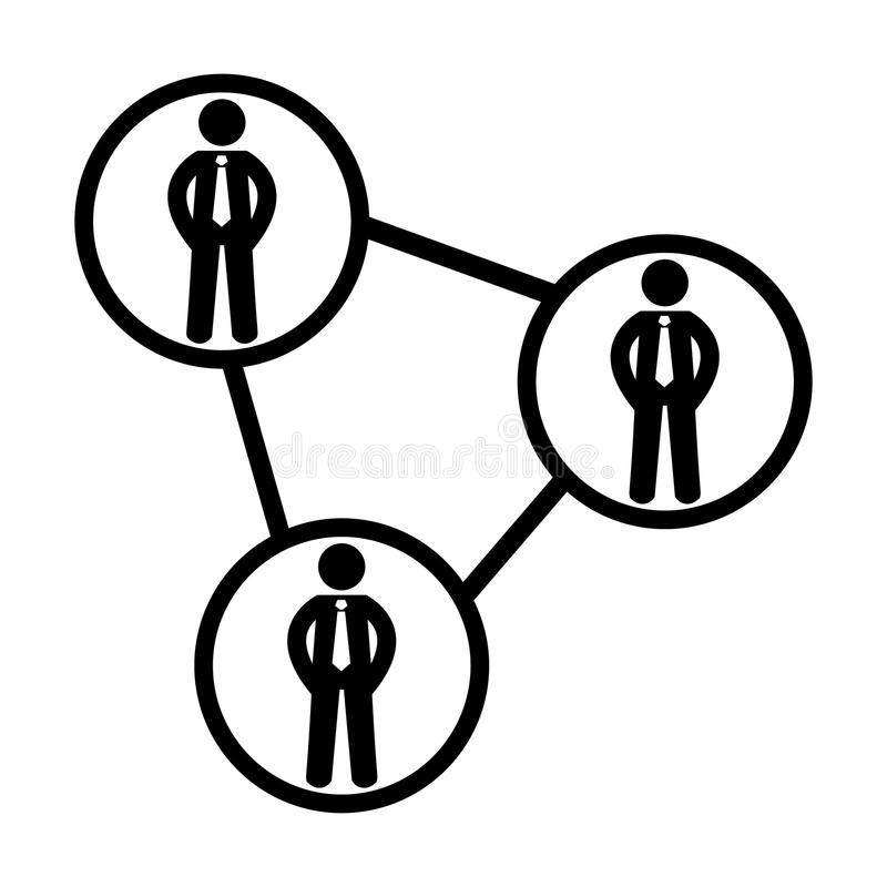 Icona della rete della gente Collegamento sociale Pittogramma di vettore 96x96 illustrazione di stock