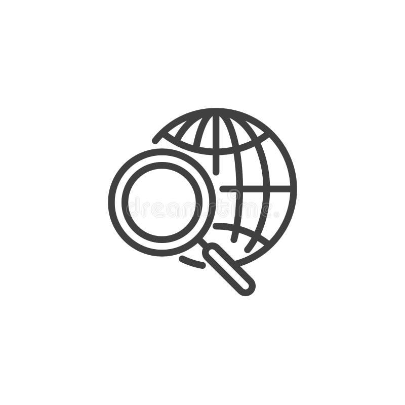 Icona della riga di ricerca globale royalty illustrazione gratis