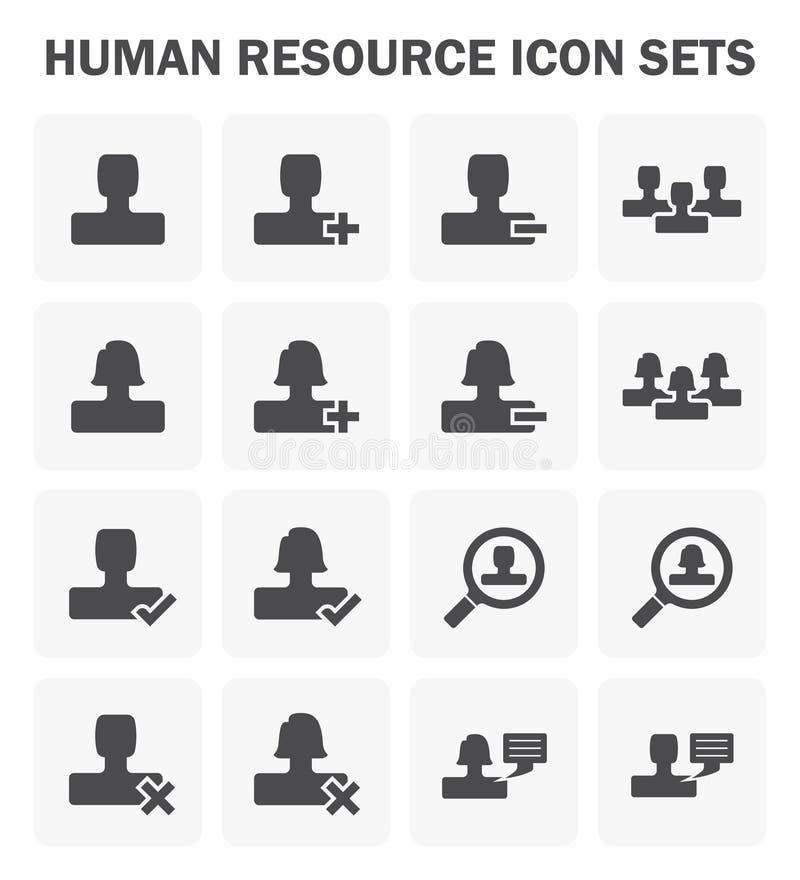 Icona della risorsa umana royalty illustrazione gratis