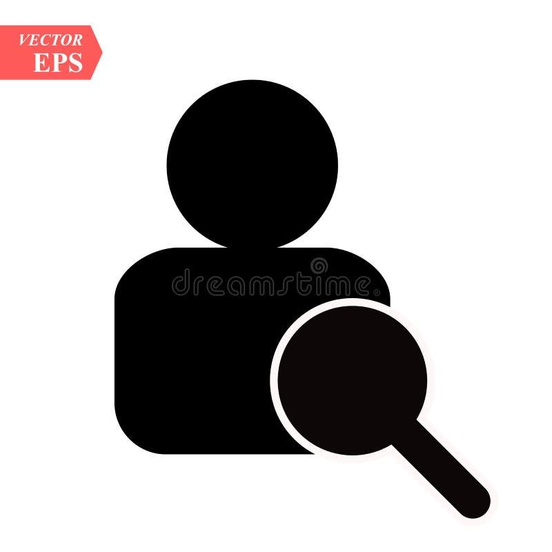 Icona della risorsa umana Ricerca degli impiegati e lavoro, affare, risorsa umana che cerca ricerca di lavoro dell'icona di vetto royalty illustrazione gratis