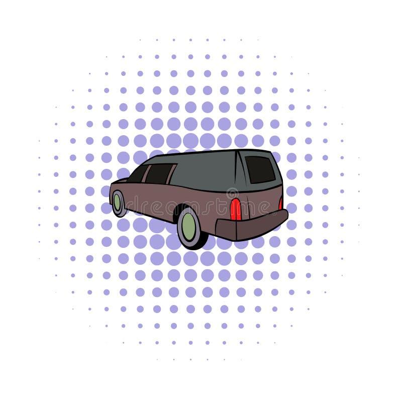 Icona della saettia, stile dei fumetti illustrazione di stock