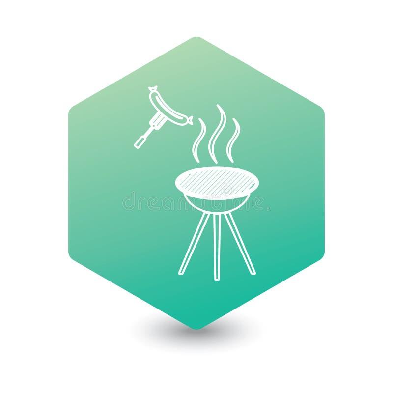 Icona della salsiccia del barbecue royalty illustrazione gratis