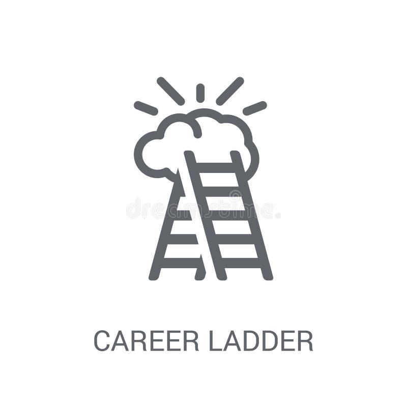 Icona della scala di carriera  illustrazione di stock