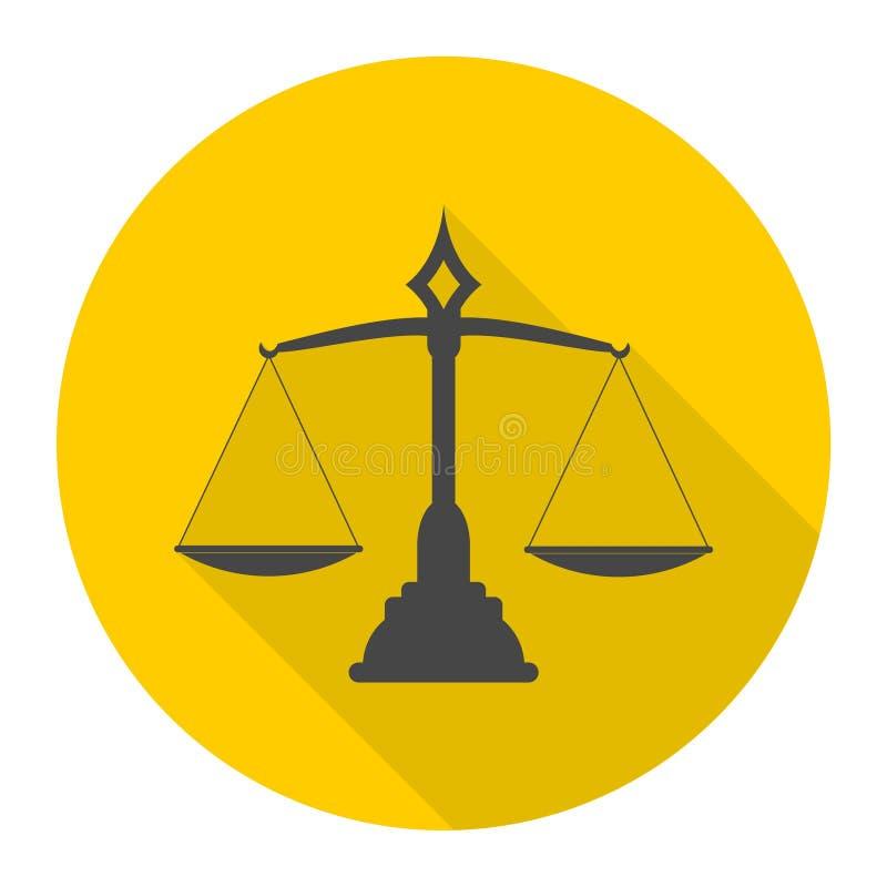 Icona della scala della giustizia illustrazione vettoriale