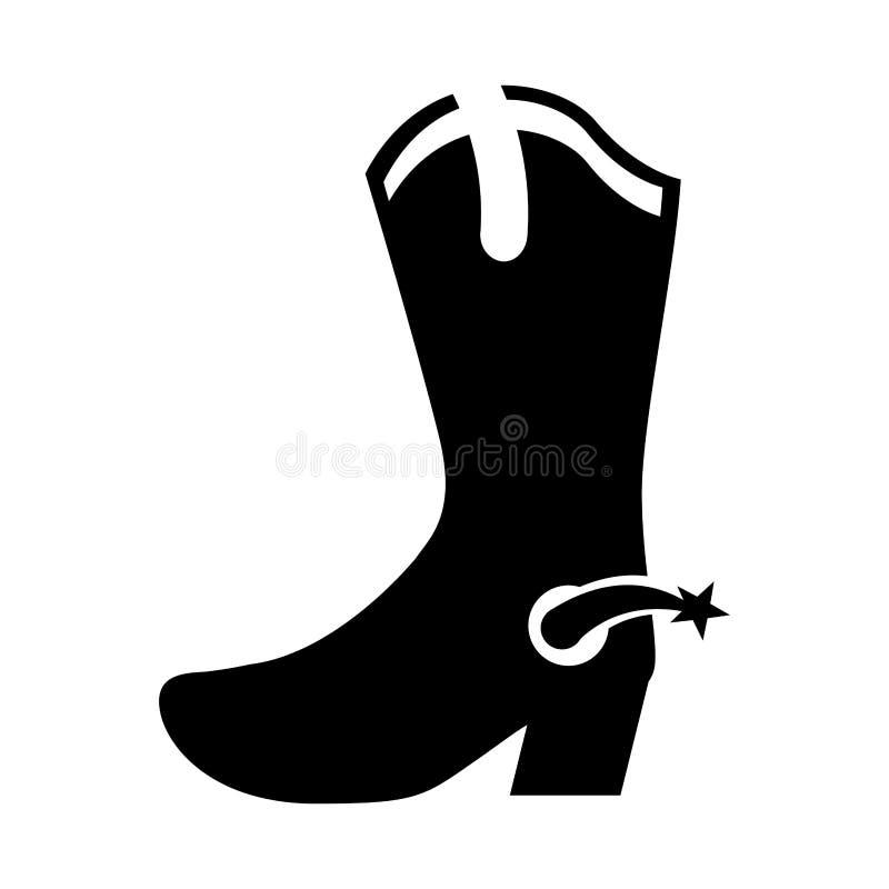 Icona della scarpa dello stivale di cowboy royalty illustrazione gratis