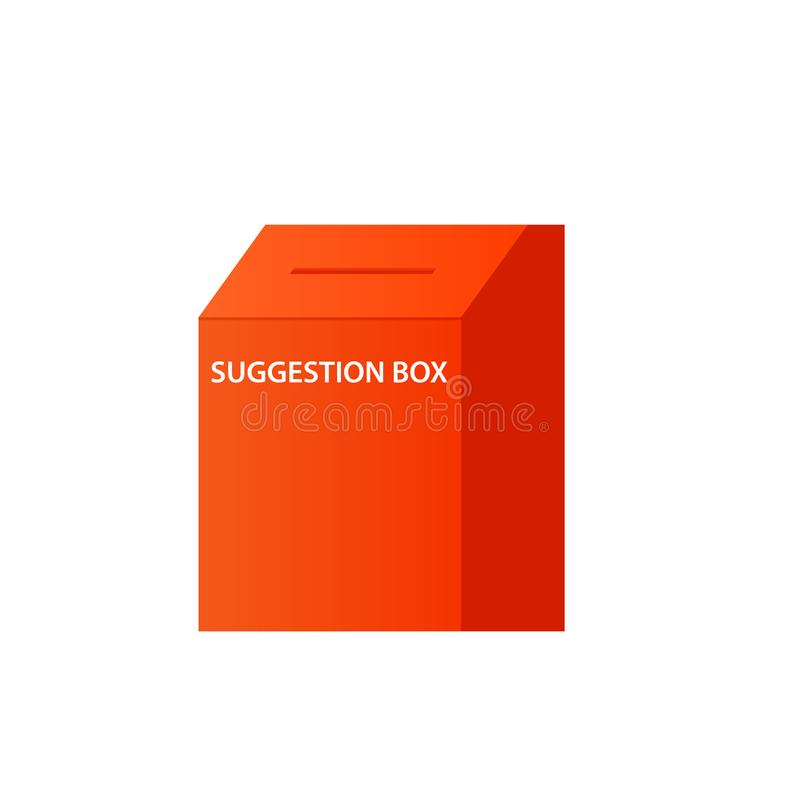 Icona della scatola di suggerimento illustrazione di stock