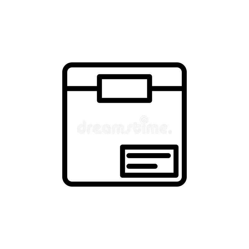 Icona della scatola Elemento delle icone minimalistic per i apps mobili di web e di concetto Linea sottile icona per progettazion royalty illustrazione gratis