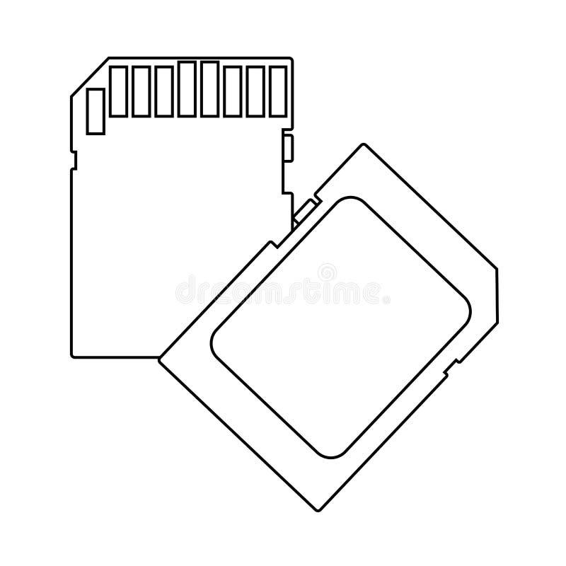 Icona della scheda di memoria illustrazione vettoriale