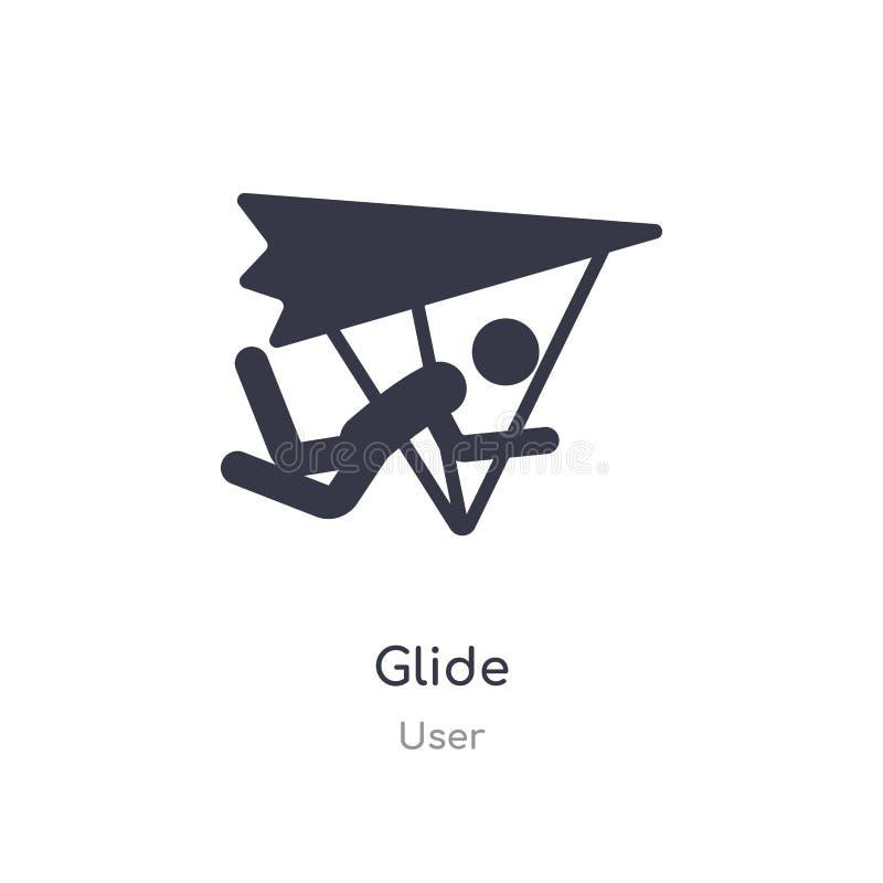 icona della scivolata illustrazione isolata di vettore dell'icona della scivolata dalla raccolta dell'utente editabile canti il s royalty illustrazione gratis